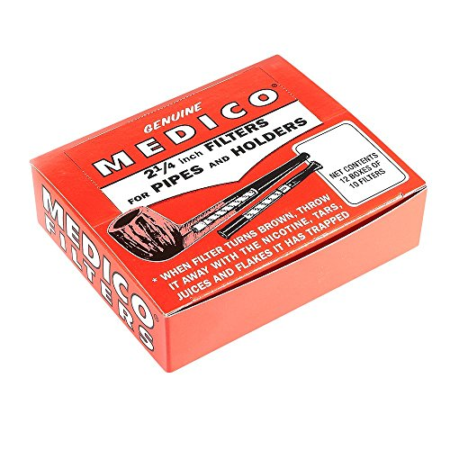 Medico Pipe Filters - 12 Boxes of 10