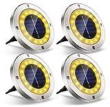 Komake Luces Solares Pradera,8 piezas luces Solares Para Suelo de Jardín IP65 Impermeable Ahorra Energía Para Césped Camino Jardín a Prueba de Agua Para Paisaje Césped Escalones Caminos Patio