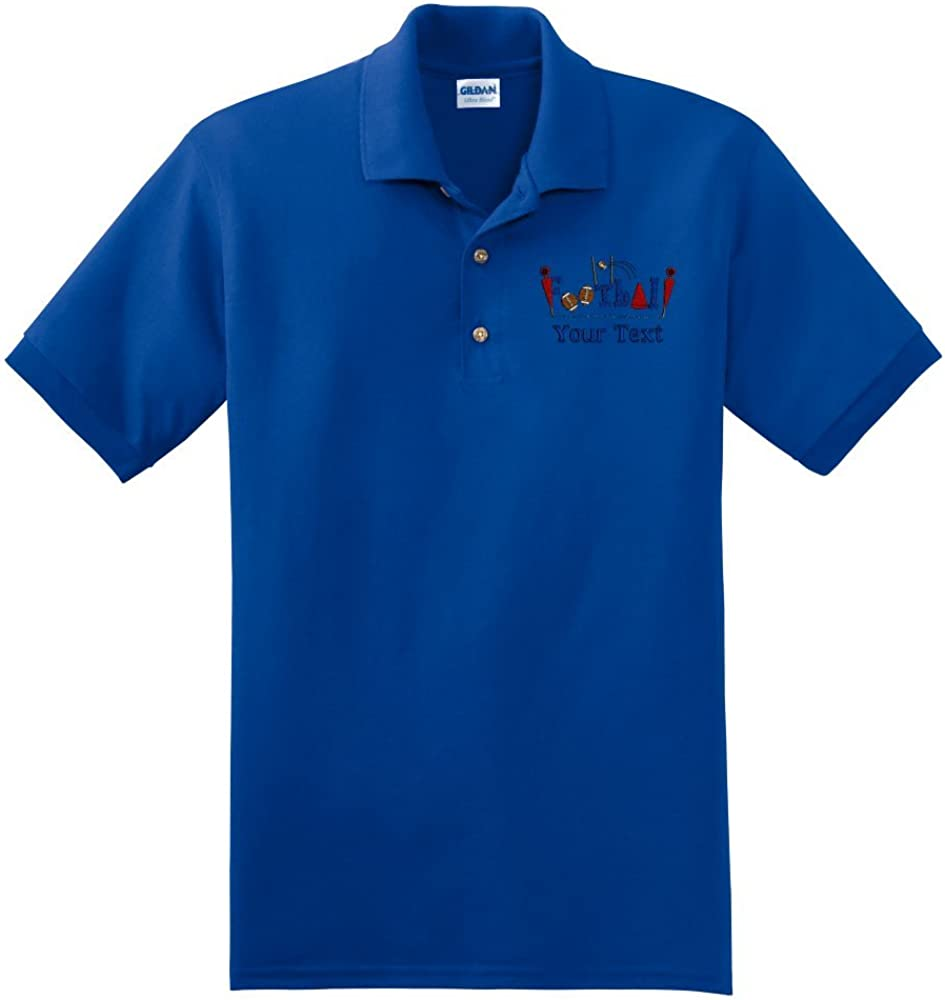 Personalized custom embroidered Football design on polo shirt