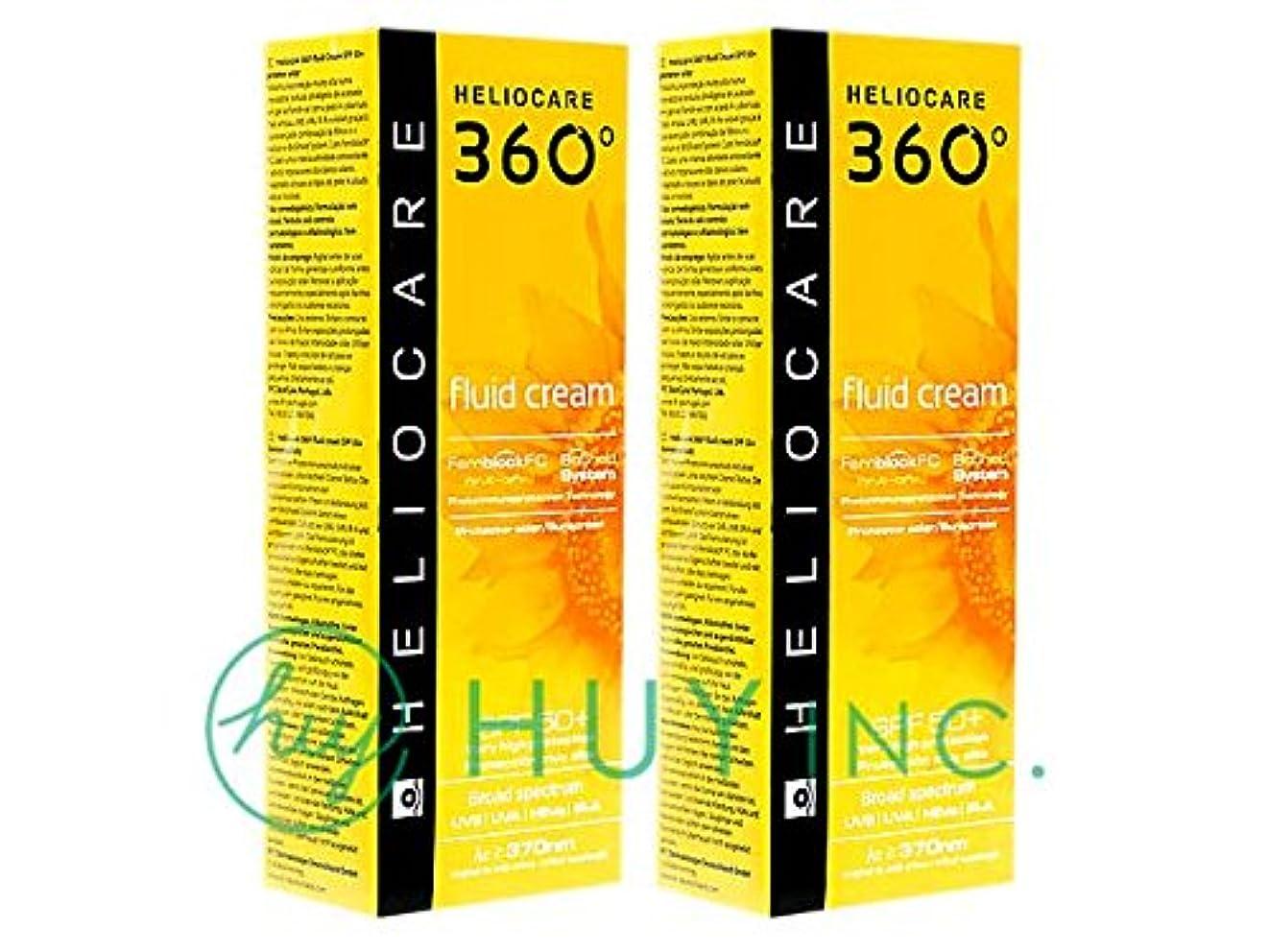 ホイールパースブラックボロウ最終ヘリオケア 360°フルイドクリーム(Heliocare360FluidCream)SPF50+ 2ボトル(50ml×2) [並行輸入品]