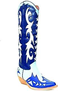 Botas JEFFREY CAMPBELL Starwood Blue+DK Blue+White
