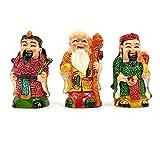 Feng Shui Fuk Luk Sau- Mini Material - Fiber Weight - 90Gm Apxm ,( L X W X H ) - 2Cm X 3Cm X 5Cm Apxm Fuk Luk Sau Is A Great Trinity Of Deities Who Represent Prosperity, Authority And Longevity Correspondin.