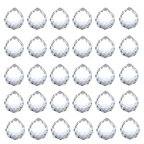 Sfera di Cristallo Decorazione per Finestra Appesa a Sfera di Cristallo Suncatcher di Cristallo Sfera di Cristallo Appeso Sfaccettato per Fotografia Decorazione Lampadari Casa Ufficio Giardino Nozze