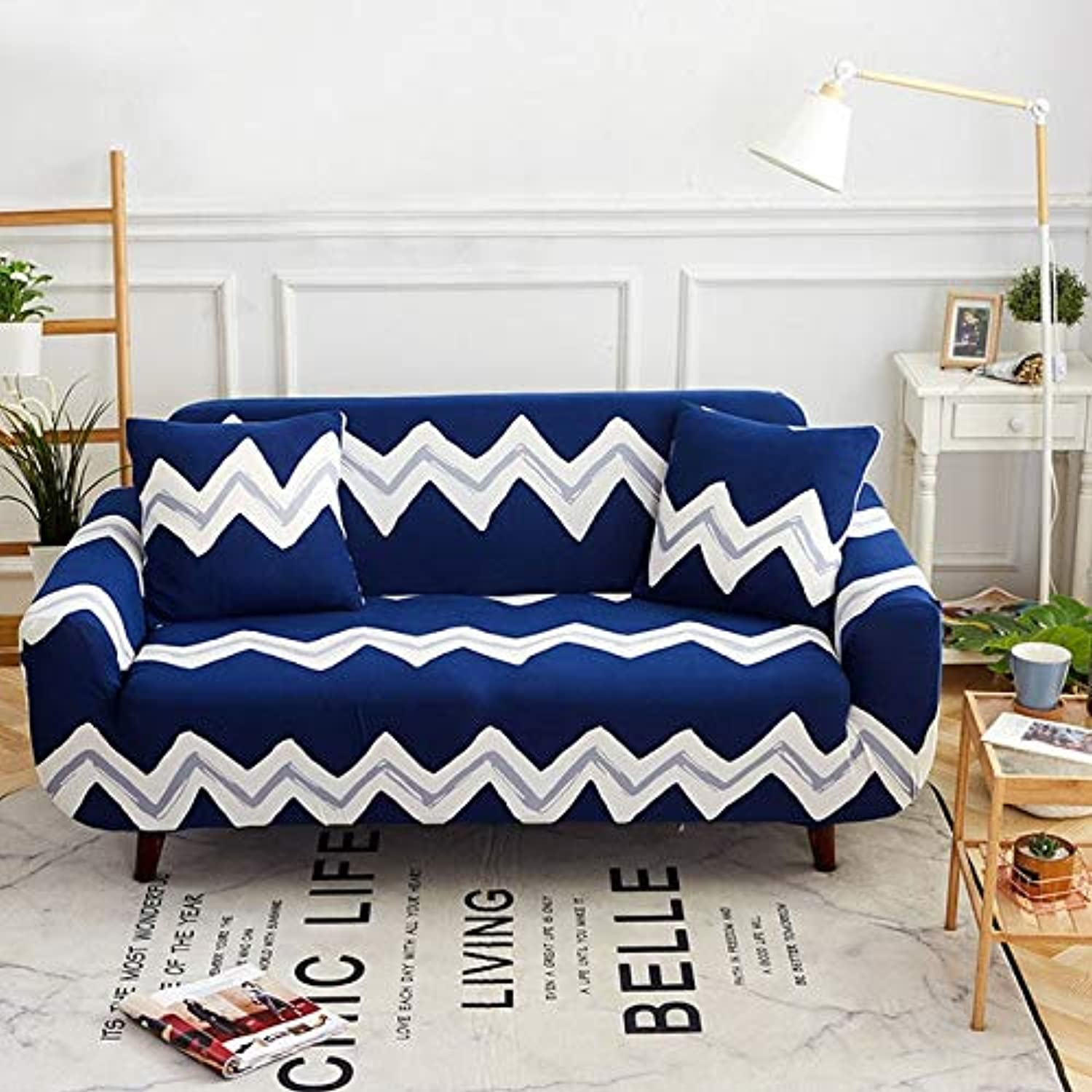 Geometric Printing Modern Dining Room Elastic Sofa Cover Spandex Polyester Couch Cover Predector All-Inclusive Stretch Slipcover   1, Single seat