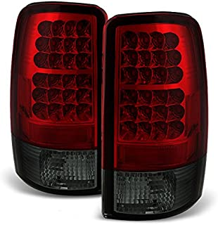 For 00-06 Suburban Taho Yukon Yukon Denali Red Smoke LED Tail Lights Brake Lamps FOR LIFTGATE MODEL