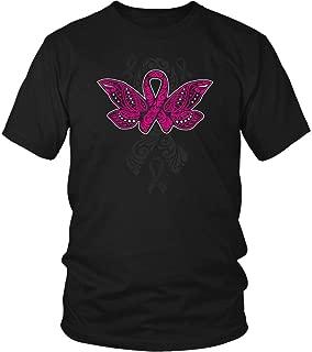 Butterfly Tattoo Pink Ribbon Breast Cancer Awareness Ideas T-Shirt