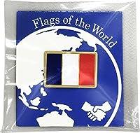 世界の国旗 ピンバッジ Sサイズ 8×12mm:フランス