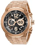 Invicta Men's Aviator Quartz Watch with Stainless Steel Strap, Rose Gold, 32 (Model: 31593)