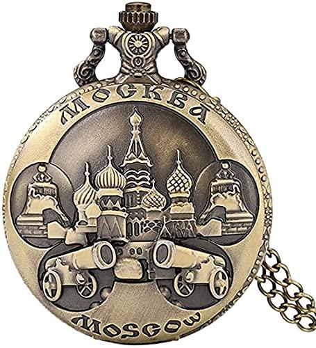 LBBYLFFF Collar de Moda Wydswl Collar El Señor es mi luz y mi Saludo a quien Tengo Miedo debería Reloj de Bolsillo de Cuarzo Hombres Mujeres Collar Colgante Reloj de Hora Regalos