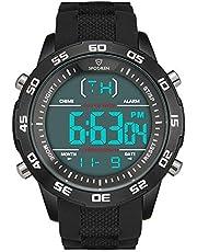 腕時計 メンズ 時計 デジタル 多機能 時報 曜日 日付 バックライト 軽量 カジュアル 人気
