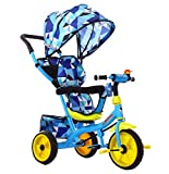 LBBGM Tricycle Pliant pour Enfants 3 en 1 12 Mois à 6 Ans Selle pivotante à 360 ° Tricycle pour Enfants avec Pare-Soleil Poids Maximum 30 kg