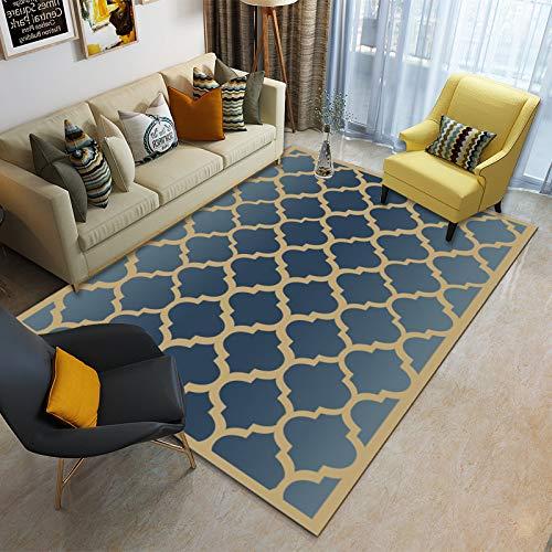 Alfombra Salón Pelo Corto Motivo Geométrico Varios Tamaños Y Colores,180x280cm