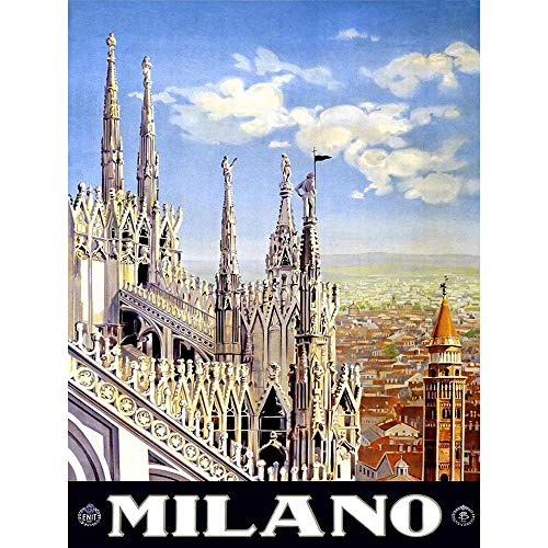 TRAVEL DUOMO CATHEDRAL MILAN ITALY VINTAGE POSTER ART PRINT 12x16 inch 30x40cm 966PY