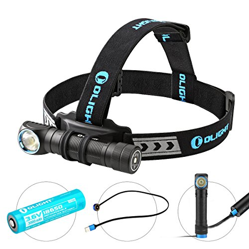 Olight Rechargeable 18650 Headlamp Flashlight H2R, Supper Strong Cool White...
