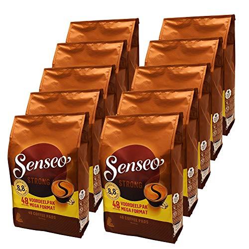 Preisvergleich Produktbild Senseo Kaffeepads Strong / Kräftig,  10er Pack,  Kraftvoller Geschmack,  Kaffee,  480 Pads