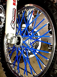 Bykas Made in USA Blue-Spoke, Covers, Wraps, Skins, Coats-Dirt Bike 72 Spokes