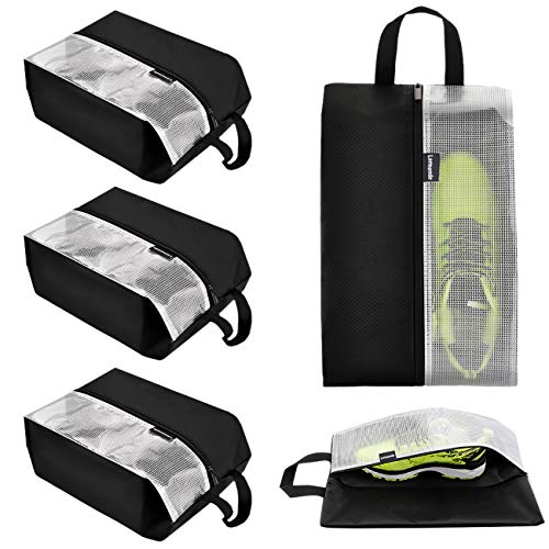 Lermende Travel Shoe Bags Waterproof Nylon Organizer Storage Tote Pouch 5pcs