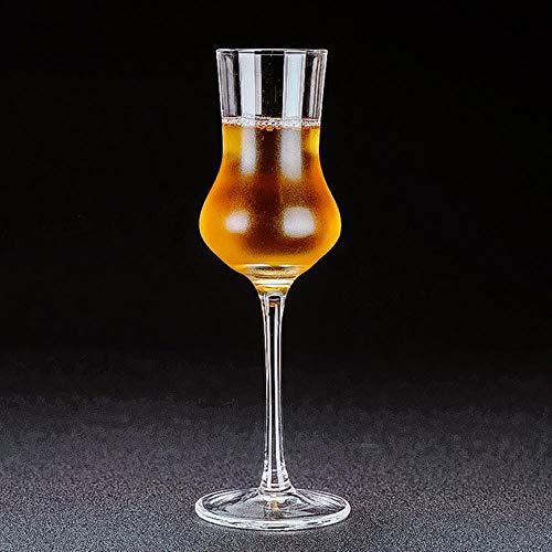 100 Ml Goblet Whiskey glas kristal geur smaak wijnglas Test Cup Brandy Cup wijn Taster speciale dranken met Cover wijnbok Kleur: wit