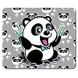 Happy Panda Cartoon Character Mouse Mat Pad - Fun Animal Gift Computer #14296