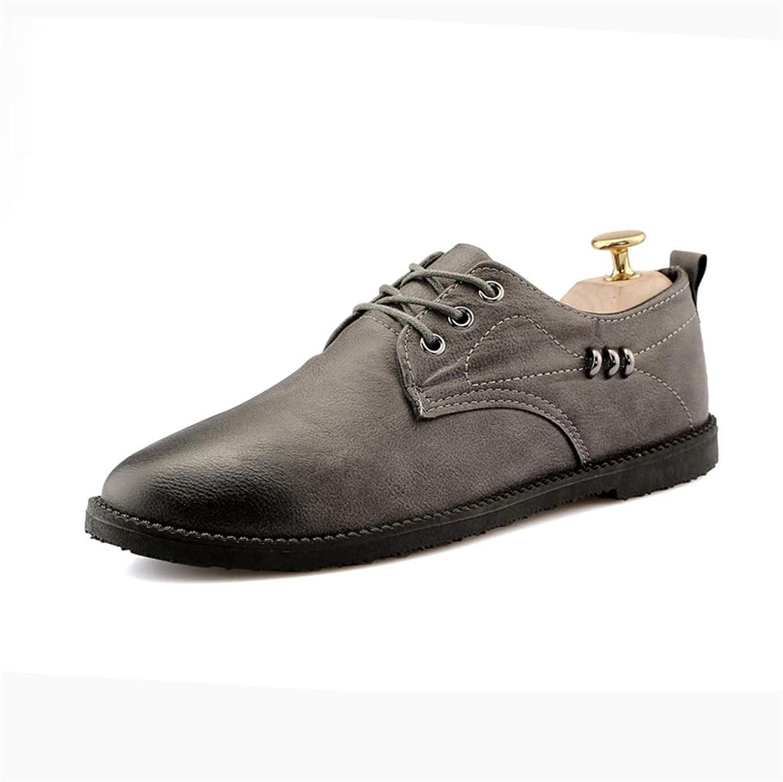 Shuo lan hu wai Herrenmode Oxford Casual Komfort Low Top Top Top Leichtes Schnüren Einzelne Formale Metallschuhe,Grille Schuhe (Farbe   Grau, Größe   44 EU)  26c21f