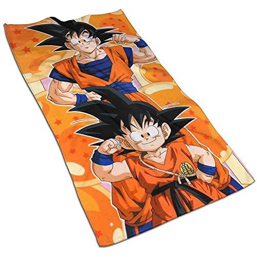 Dragon Ball Soft Super Absorbent Schnelltrocknendes Handtuch Badetuch Strandtuch - 27,5 x 17,5 Zoll