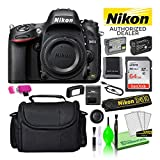 Nikon D610 24.3MP DSLR FX-Format Digital Camera (Body Only) (1540) USA Model Bundle Kit with High-Speed 64GB SD Card + Large Camera Gadget Bag + Spare EN-EL15 Battery + Camera Cleaning Kit + More