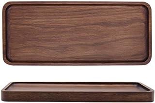 Crean トレイ トレー 木製 お盆 四角 長方形 クルミ材 ランチトレイ カフェトレイ おしゃれ (D 12cm*30cm*2cm)