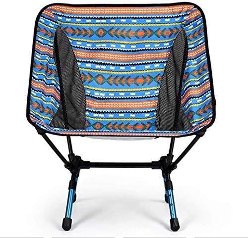 Las sillas plegables portátiles de aire libre de aluminio ultraligero con bolsa de transporte telescópica plegable que acampa Sillas Sillas de playa (Color: Naranja), color: naranja ( Color : Blue )