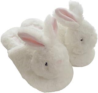 Millffy hot Winter New Plush Animal Head Unicorn Slippers Cute Plush Rabbit Indoor Home Slippers