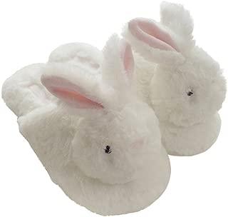 hot Winter New Plush Animal Head Unicorn Slippers Cute Plush Rabbit Indoor Home Slippers