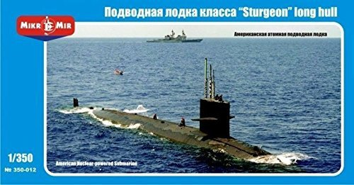 U.S. NUCLEAR-POWERED SUBMARINE 'STURGEON' , LONG HULL 1/350 MICRO-MIR 350-012