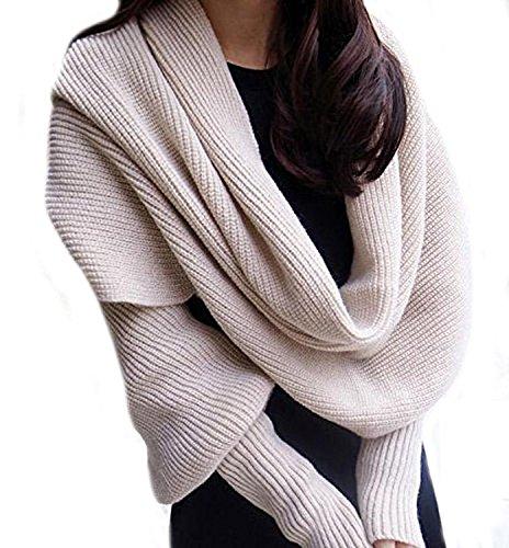 Bufanda punto cálida moda invierno Butterme, color