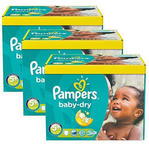 Couches Pampers - Taille 5+ baby dry - 308 couches bébé