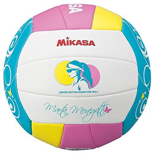 Mikasa VMT5 - Balón de voleibol, color blanco / rosa / azul, talla 5