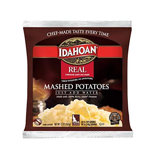 Idahoan Real Mashed Potatoes, Made with Naturally Gluten-Free 100% Real Idaho Potatoes, 13 oz. Bag (Pack of 24)