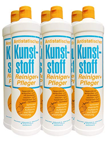 Burnus 6x Antistatischer Kunststoff Reiniger + Pfleger, 500ml