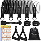 Resistance Bands, Exercise Bands, Workout Bands, 5 Tube Fitness Bands with Door Anchor, Handles,...