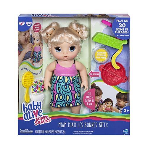 Baby Alive - Miam Miam Les Bonnes Pates - Poupee Cheveux Blonds - Parle en français