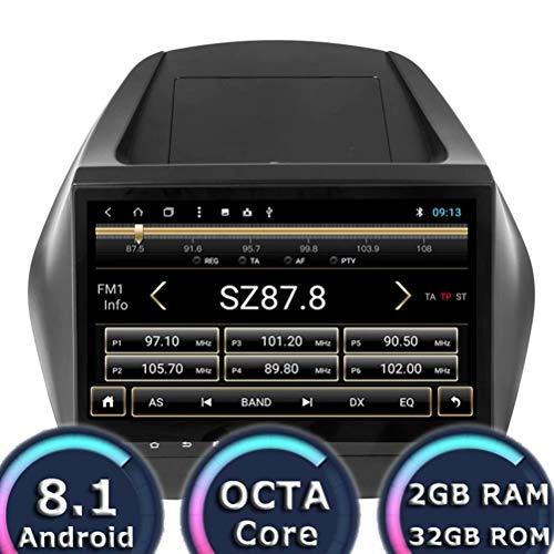 ROADYAKO Unité Principale Android 8.1 Lecteur GPS de Voiture pour Hyundai ix35 2010 2011 2012 2012 2014 2014 2015 Navigation Radio Stéréo 2 Go de RAM 32 Go ROM WiFi 3G RDS Lien de Miroir