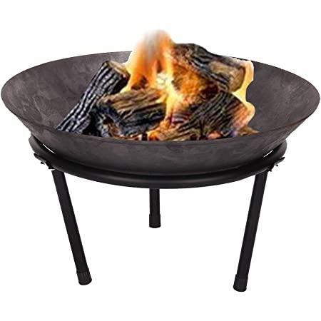 50x50x24 cm made of steel with 3 feet for barbecue K/öhko fire bowl Marbela approx garden fire and every wonderful evening