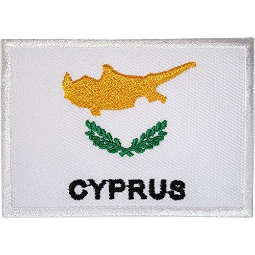 Aufnäher mit Zypern-Flagge, bestickt, zum Aufbügeln oder Aufnähen auf Kleidung, Jacke, Hemd, Tasche