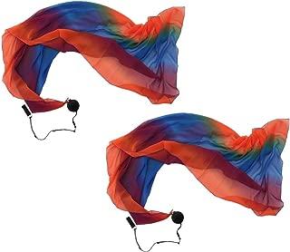 Baosity 2pcs Flowy Silk Veil Poi Throw Balls Belly Dance Costume Dancing Accessories