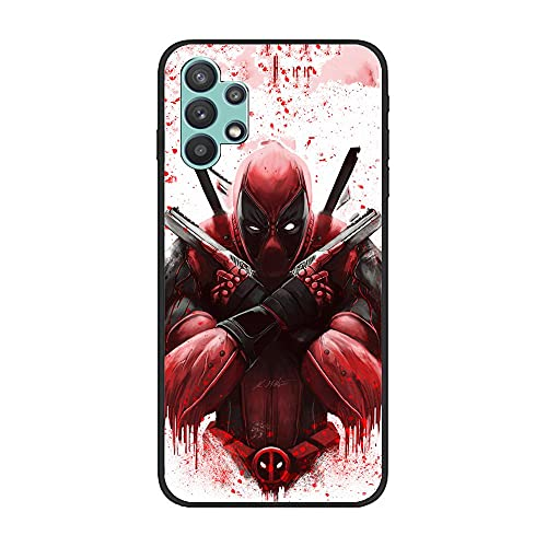 Black Case Matte Crystal Thin Soft Cover for Samsung Galaxy A32 5G-Deadpool-Humor 10