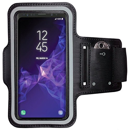 CoverKingz Sportarmband für Samsung Galaxy S9 - Armtasche mit Schlüsselfach Galaxy S9 - Sport Laufarmband Handy Armband Schwarz