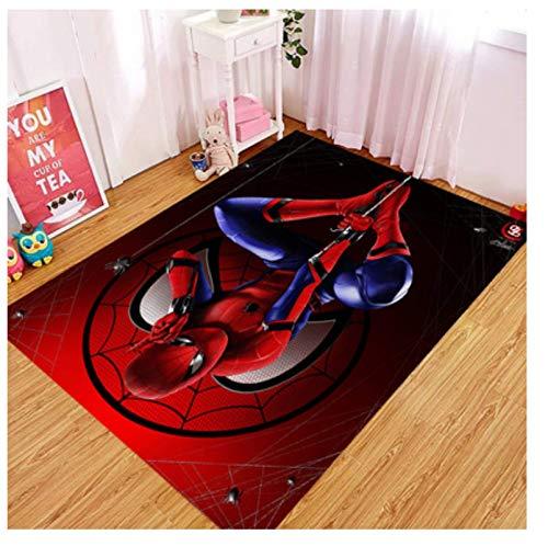 WallDiy Alfombra Estampada Spiderman 6, Alfombra Antideslizante, Alfombra para Adolescentes