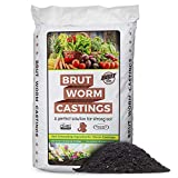 Brut Worm Farms - Worm Castings Soil Builder - 30 Pounds - Organic Fertilizer - Natural Enricher for Healthy Houseplants, Flowers, and Vegetables - Use Indoors or Outdoors - Non-Toxic and Odor Free