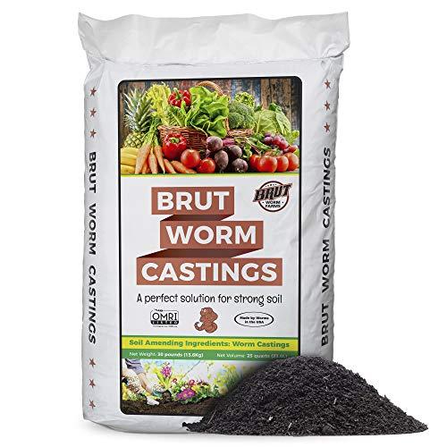 BRUT WORM FARMS Worm Castings Soil Builder - 30...