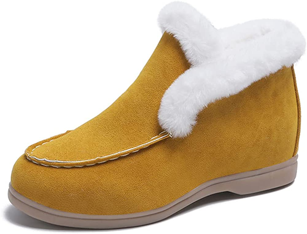 Ankle Boots Leather Boots Warm Fur Casual shoes Winter Boots Sli