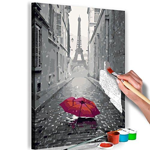 murando Pintura por Números Cuadros de Colorear por Números Kit para Pintar en Lienzo con Marco DIY Bricolaje Adultos Niños Decoracion de Pared Regalos - París 40x60 cm - DIY - n-A-0340-d-a
