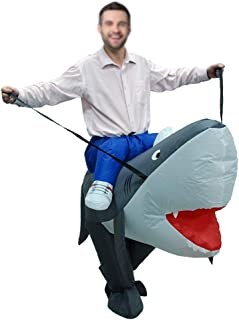 BOFEISI Inflatable Blow Up Costume Adult Cosplay Halloween Christmas Carnival Football Party Clothes Fancy Dress Toys,Sharks